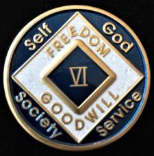 NA Blue Enamel Recovery Medallion