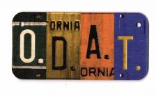 One Day at a Time Wooden License Plate