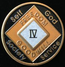 NA Black & Orange Enamel Recovery Medallion