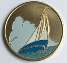 Painted Boat Medallion