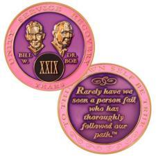 Pink Bill & Bob Medallion
