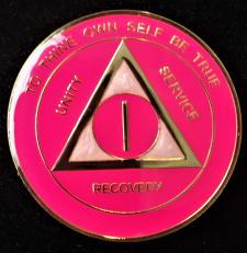 AA Hot Pink And Pearl Recovery Medallion
