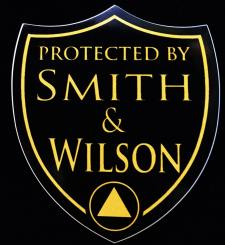 Protected By Smith & Wilson Shield Sticker