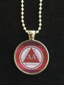 AA Unity Resin Necklace Red & White