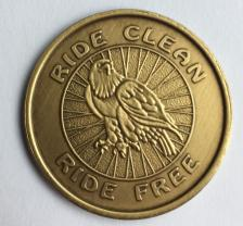 Ride Clean Ride Free Bronze Medallion