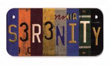 Serenity Wooden License Plate