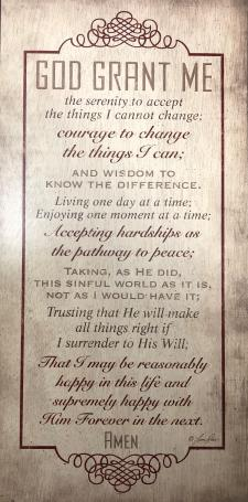 Extended Serenity Prayer Wall Plaque