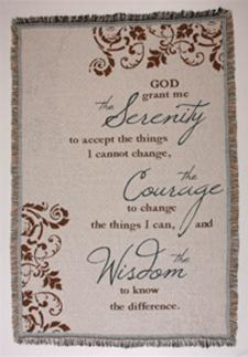Serenity Prayer Cotton Afghan