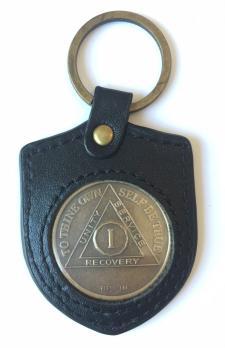 Black Leather Shield Shaped Medallion Holder