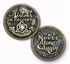 Sisters in Recovery Bronze Medallion