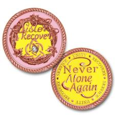 Sisters in Recovery Rose Gold Medallion