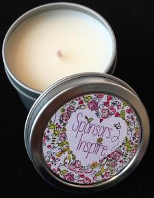 Sponsor's Inspire Butterfly Heart Candle Mini Tin