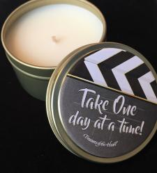 Take One Day At a Time Soy Tin Candle