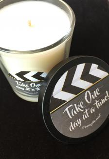Glass Soy Candle - Take One Day at a Time