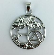 Sterling Silver Tree of Life AA Pendant