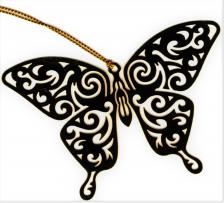 Tribal Butterfly Ornament