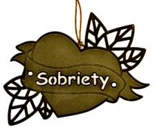Sobriety Heart Ornament