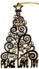 Peace Love Tree Ornament