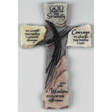 10 Inch Serenity Prayer Resin Wall Cross