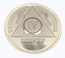 Silver Plated Birthday Recovery Medallion