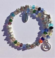 AA Multi Color Wire Wrap Bracelet