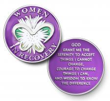 Women in Recovery Purple Coin